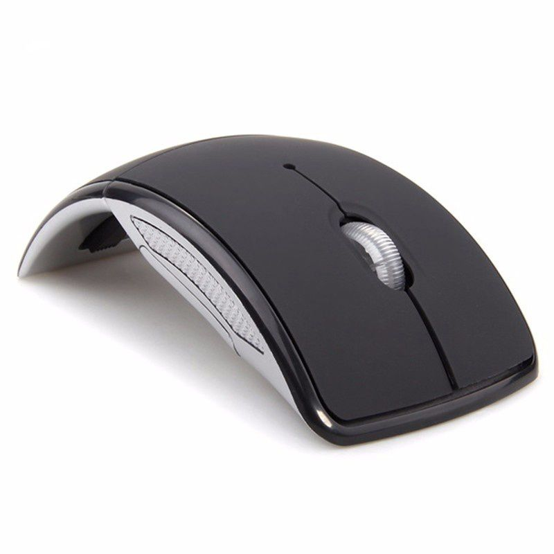 """Foldable Wireless Mouse Without Borders MINI COMPACT SIZE - 3.89""""*2.55""""*1.44"""" Mouse body, especially design for small hands. Thanks to its extra-portability pocket-sized, you can fold and take the wireless mouse wherever with your laptop."""