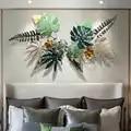 Kreative Luxus Eisen Simulation Grün Pflanzen Wandbehänge Stereo Hintergrund Wand Dekor Wohnzimmer Eisen Wand Dekorationen R3197