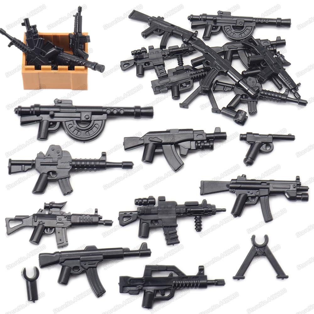 WW2 Military Weapon Building Blocks Pack  MOC Army Accessory Soldier Figure Gun