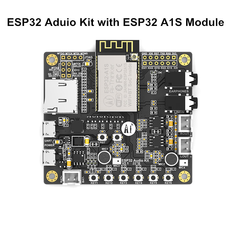 ESP32 Serial ESP32 Aduio Kit ESP32 Audio Development Board 2.4G WiFi Bluetooth Module Low Power Dual-core With ESP32-A1S 8M