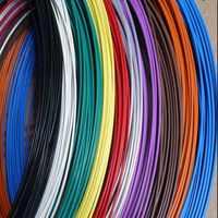 Teflo de alta temperatura cable de señal 10 11 13 14 16 18 20 22 24 26 28 30AWG multicolor de plata Chapado en varados PTFE cable de auricular de