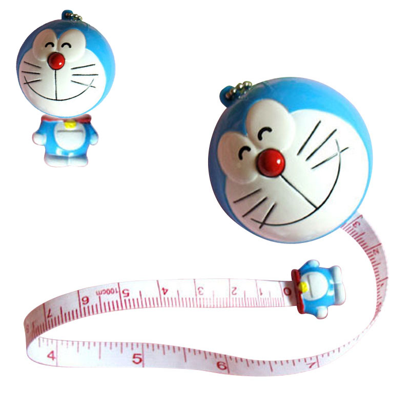 100cm Ruler Keychain Tools Toy Kid's Drawing Play Toy Tape Measurement 1m Ruler Drawing Cute Animals Tape Ruler Keychain Tape