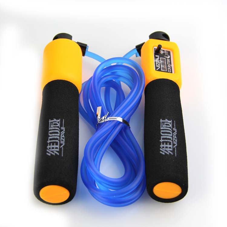 Low Price Promotion Wei Jiahe Wei Count Jump Rope Adult Children Students Adjustable Wear-Resistant Rubber Sponge Handle