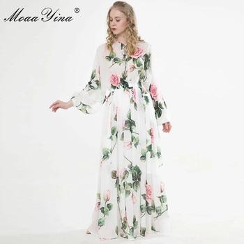Women Dress Floral-Print Vacation Maxi Dresses