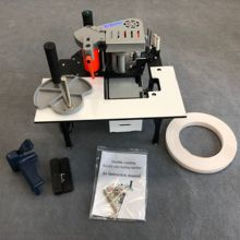 Edge-Banding-Trimmer-Machine Trimming with Gluing End-Cutting for Straight Curve Rotate-Function