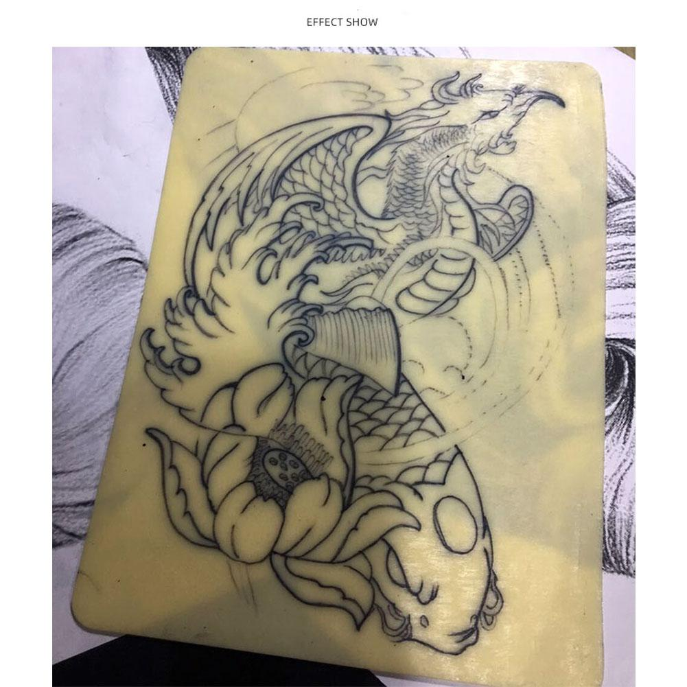XY Fancy A4 Size 20 * 30cm Thick Tattoo Practice Artificial Skin Blank Silicone Double Sides Pad Supply