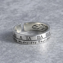 KOFSAC 925 Sterling Silver Ring For Men Women Fashion Jewelry Vintage Roman Numerals Ring Lovers Valentine's Day Accessories(China)