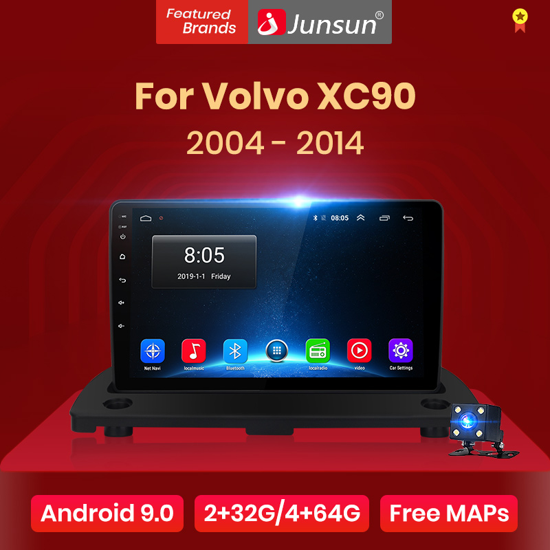 Junsun V1 2G 32G Android 9 0 DSP For Volvo XC90 2004-2014  Car Radio Multimedia Video Player Navigation GPS 2 din dvd no cd slot