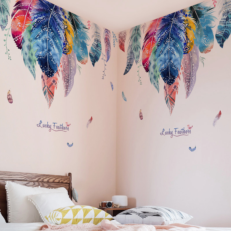Creative Stickers Wallpaper Decoration Background Bedroom Self-Adhesive Living-Room Dreamlike title=