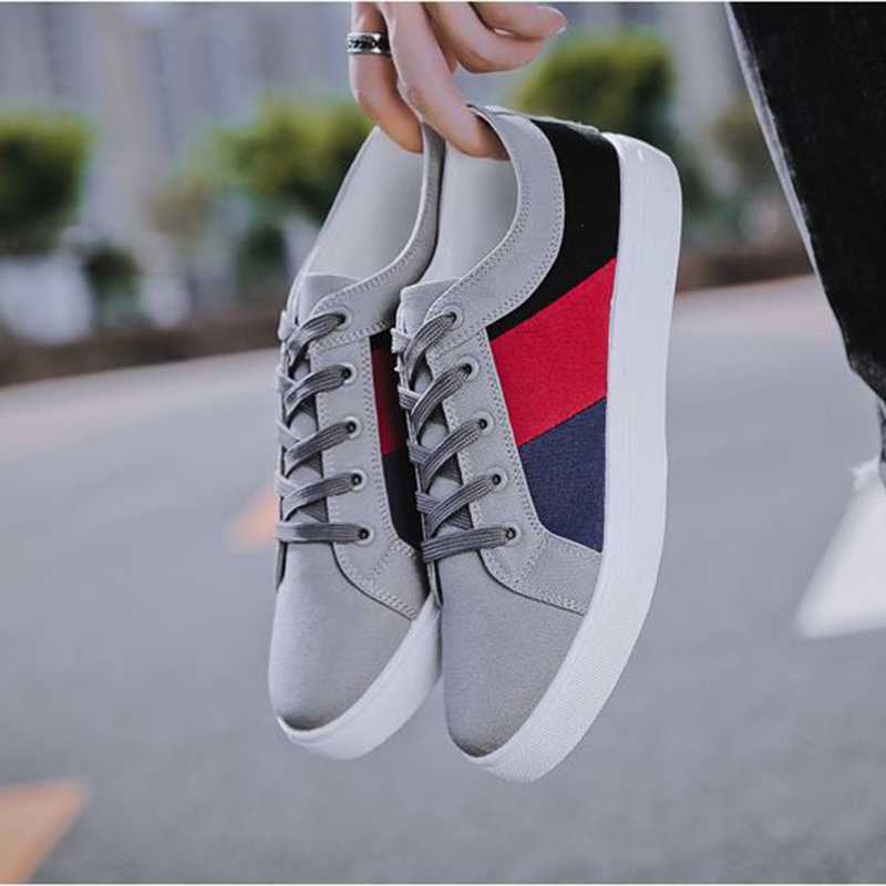 Image 2 - REETENE 2019 New Cheapest Casual Shoes Men Autumn Spring Casual Shoes Mens Canvas Shoes For Men Lace Up Flat Loafers ShoesMens Casual Shoes   -