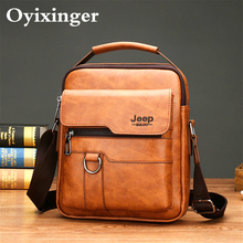 Briefcase Messenger-Bag Crossbody-Bags Leather Handbag IPAD Business Small Male Men's