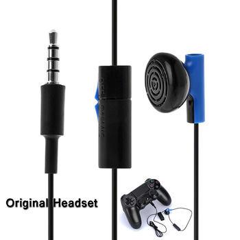 цена Game Headset With Microphone Mono Chat Earbud Headset for Sony PS4 PlayStation 4 Controller Earphone Gaming Headphone gaming онлайн в 2017 году