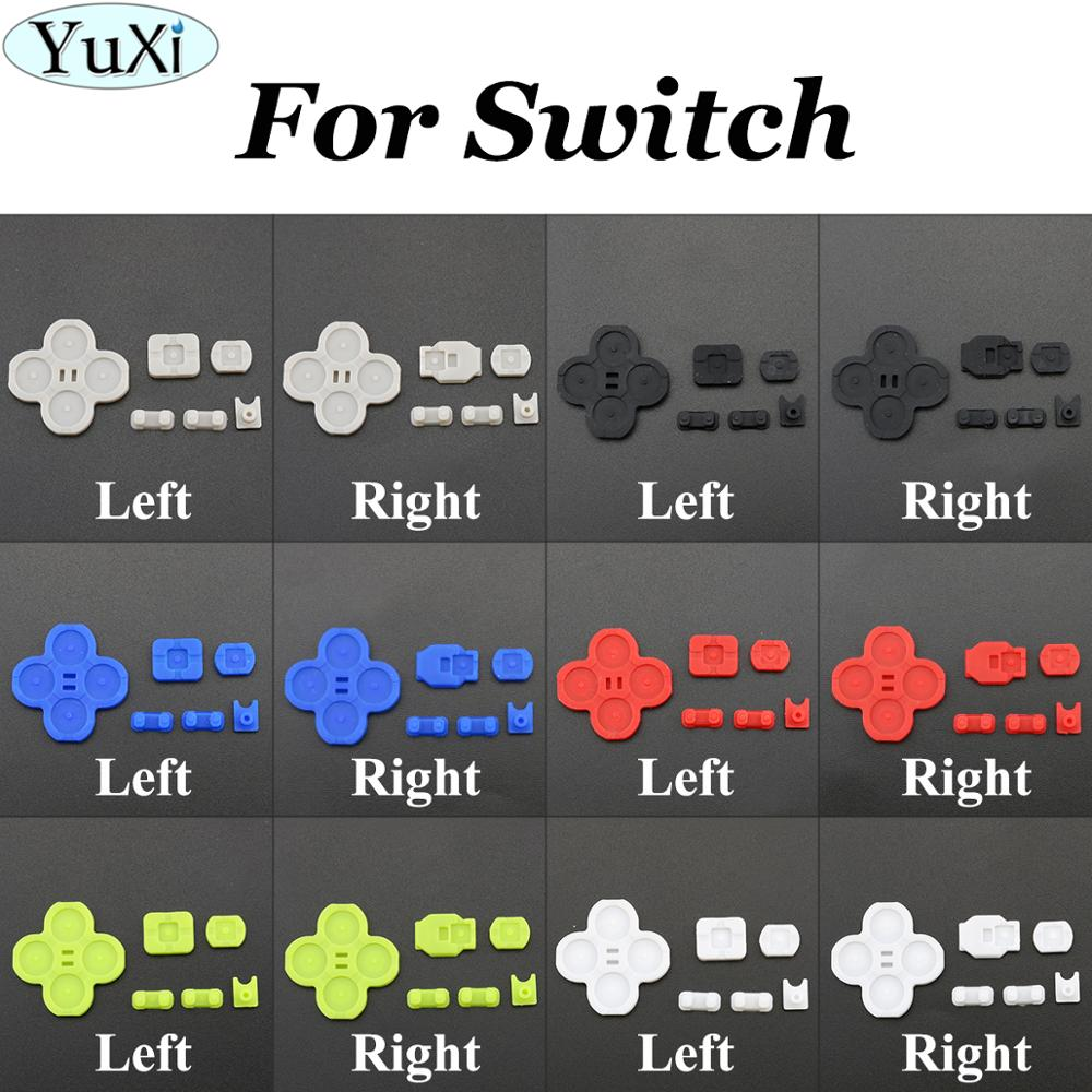 YuXi Left Right Silicone <font><b>Pads</b></font> Conductive Rubber <font><b>D</b></font>-<font><b>pad</b></font> replacement for <font><b>Nintend</b></font> <font><b>Switch</b></font> for NS Joy-con Control Game control button image