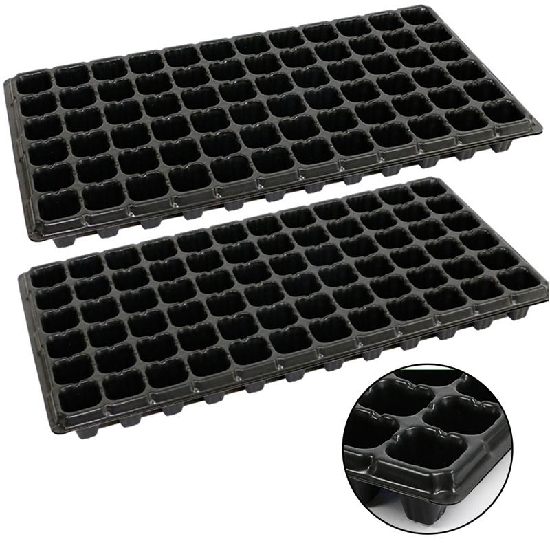 10PCS 72 Hole Seed Sprouter Trays PVC Seedling Tray Porous Thickening Seedling Tray For Agriculture Gardening Tools Home Shop