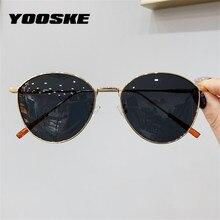 YOOSKE – lunettes de soleil œil de chat pour hommes et femmes, verres solaires, chics, pour la conduite, UV400, monture métallique Vintage