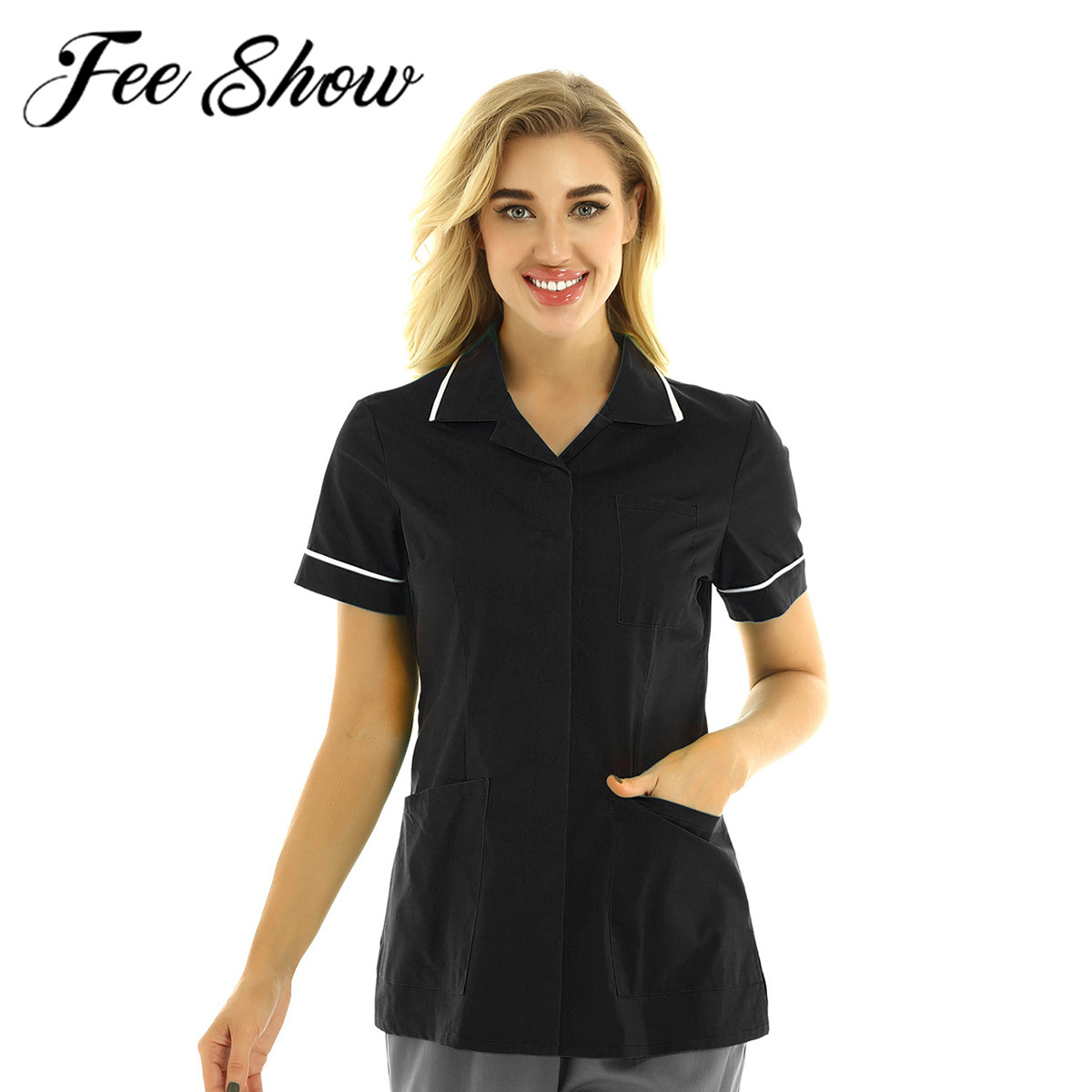 Medical Clothes Hospitality Care Uniform Dentist Workwear Doctor Nures Healthcare Tunic Nursing Maid Tops Surgical Gown Lab Coat