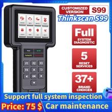 Thinkcar Thinkscan S99 DIY รถตรวจจับ OBD2 Full ระบบรหัสเครื่องสแกนเนอร์น้ำมัน/เบรค/SAS/ETS/DPF รีเซ็ตเครื่องมือวินิจฉัย