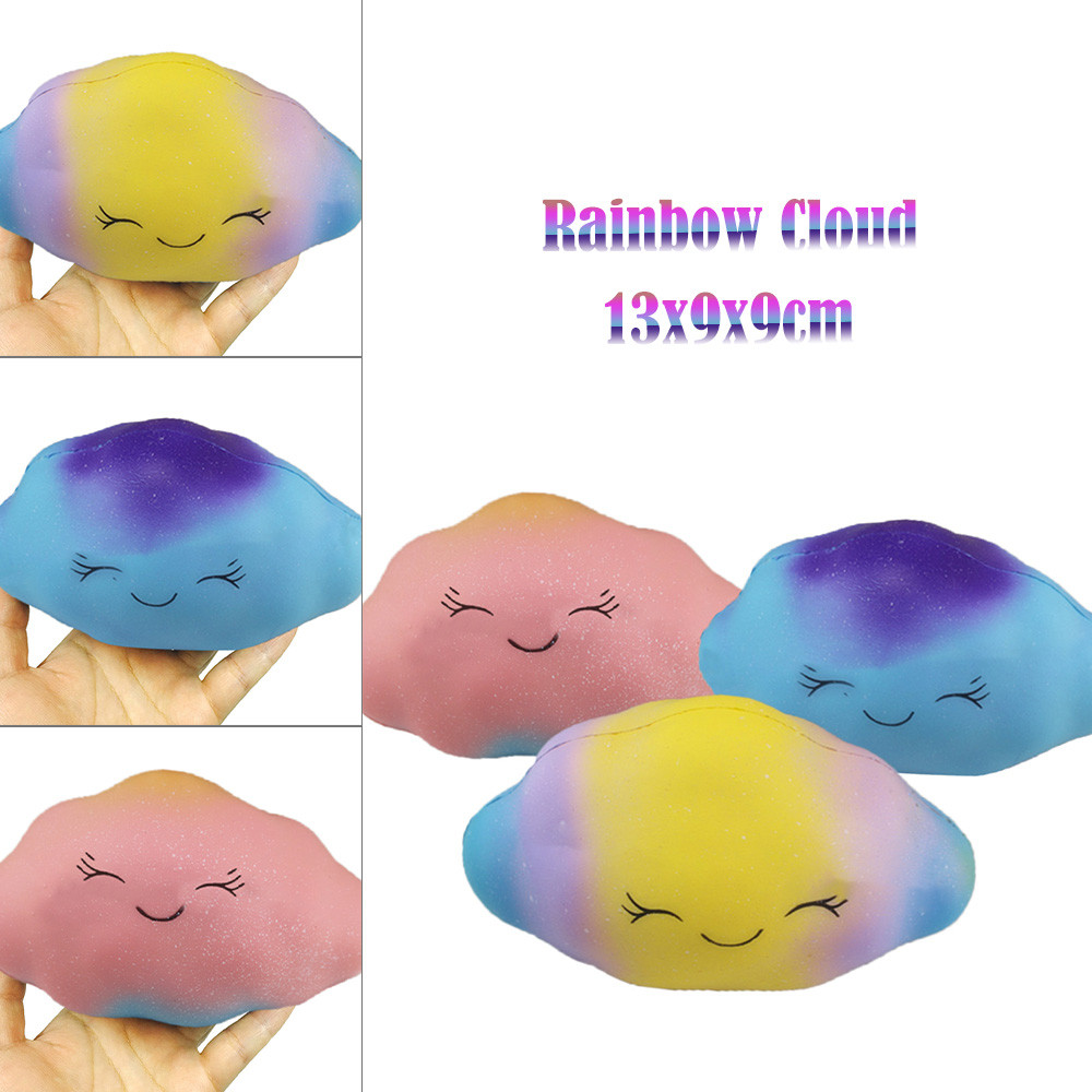 Simulation Children Decompression Toys Rainbow Cloud Cream Scented Slow Rising Squeeze Toys Phone Charm  L0110