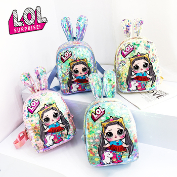 2020 LOL Surprise Dolls School Backpacks for Girls Bag Lol Dolls Backpack with Sequins Fashion Cute Trendy Girls Schoolbag