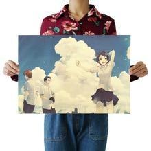 [G052] через время и пространство девушки B-Ретро плакат из крафт-бумаги экран для помещений кафе декоративная живопись