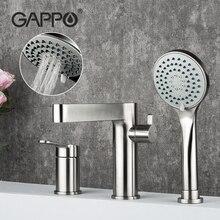 GAPPO Shower Faucet Set Stainless steel Bathroom Bathtub Shower mixer Bath Shower Tap Shower Head Mixer Taps robinet baignoire gappo bathtub faucet white tub faucet rainfall bath tub taps shower mixer tap wall mount shower faucet set robinet baignoire