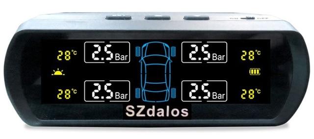 Wireless solar power external tpms sensor 433.92 mhz digital temperature display tire pressure gauge