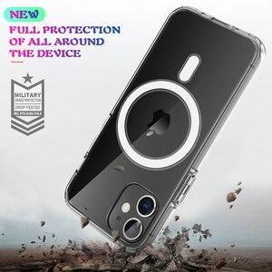 Image 5 - מגנט מקרה ברור עבור iPhone 12 מיני 11 פרו מקס 12Pro X XS XR iPhone12 מגנטי מקורי יוקרה מותג היברידי אקריליק קשה כיסוי