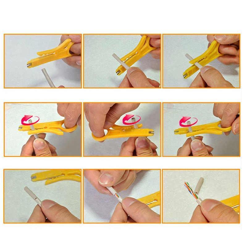 Portable Mini Saku Kawat Stripper Pisau Tang Crimper Crimping Alat Pengupasan Kabel Kawat Cutter Crimpatrice Alat Parts