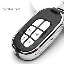 אבץ סגסוגת רכב מפתח מקרה כיסוי Keychain עבור Jeep Renegade 2014 2015 גרנד צ רוקי קרייזלר 300C רכב מפתחות אבזרים
