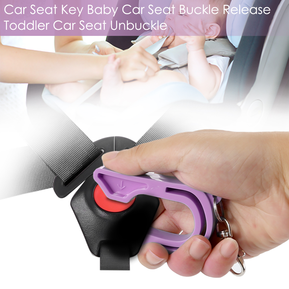 Car Seat Key Baby Seat Safe Key Unbuckle With Keychain Seat For Kids Universal Professional Free Shipping