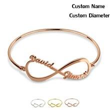 Jewelry Bracelet Bangles Letter Custom Personalized Women Name for Hot Fashion Mum Girlfriend