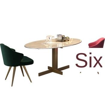 Silla de comedor postmoderna de lujo ligera Silla de terciopelo nórdico silla de diseño sillón simple trasero Silla de negociación de ocio