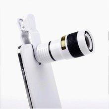 Универсальный телескоп с оптическим зумом 8X8, объектив с зажимом, семейный бинокль, телескоп для iPhone6, Samsung, HTC, Huawei, Xiaomi