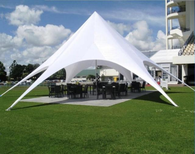 14m Diameter Star Tent Trade Show Outdoor Event Advertisement Party Exhibition Single Top Shape Printed PVC Aluminum Tents