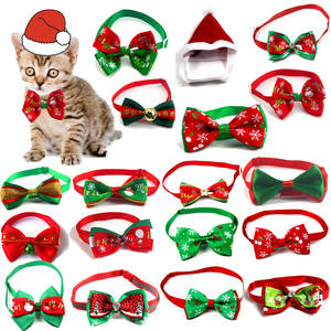 Bow-Tie Pet-Product-Supplies Dog-Grooming-Accessories Neck-Strap Dog-Collar Cat Christmas Holiday