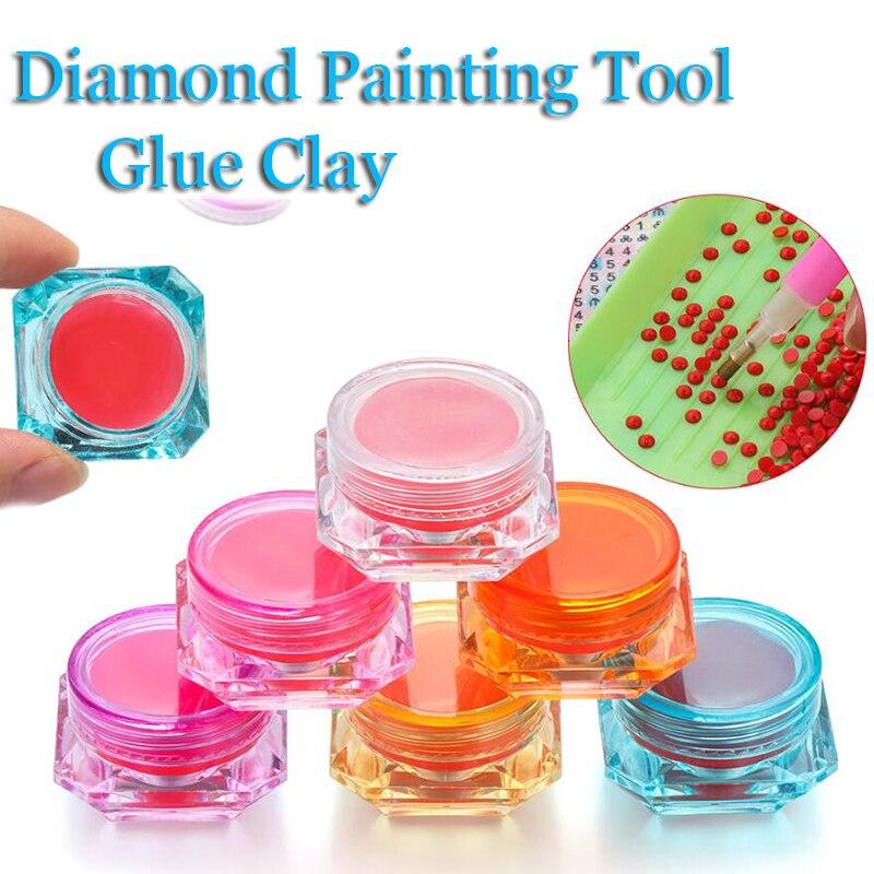 Новый 5D DIY Алмазная вышивка аксессуары клеевая Глина Инструменты для вышивки картин со стразами 6 Цвет воск для бутылок клей грязи