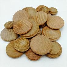 20 unidades/pacote tampões de cobertura de madeira maciça de carvalho tampões botão superior plug parafuso buraco diy móveis de madeira decoração da escada