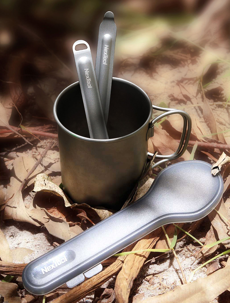 Xiaomi Nextool Titanium Fork Spoon Cooking Outdoor Camping Picnic Spork Set X5Z6