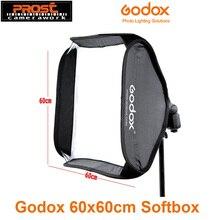 Godox Softbox 60x60cm difüzör reflektör Speedlite flaş işığı profesyonel fotoğraf stüdyosu kamera için Flash Fit Bowens Elinchrom
