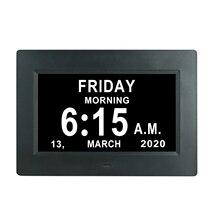 Multifunction 7inch Tablet Shaped WiFi Digital Alarm Clock HD LED Display Digital Photo Frames Home Decor Rich Combination