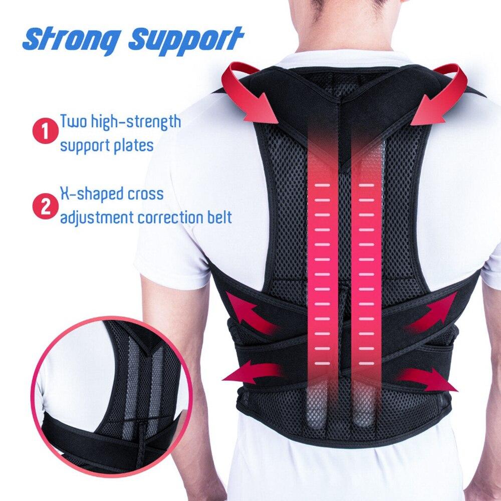 Corrección de espalda humectante Brace de espalda columna espalda ortesis escoliosa soporte Lumbar Fijación de órtesis curvada columna para una postura correcta