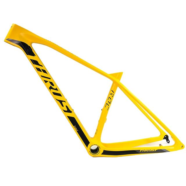 Новинка 2020, 29er, желтая упорная рама из углеродного волокна для велосипеда, кронштейн: BSA & BB30 & PF30 MTB, рама, велосипедные аксессуары
