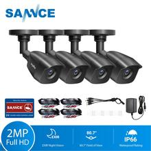 SANNCE 4 قطعة 1080P CCTV كاميرات أمنية 2.0MP في الهواء الطلق الرئيسية كاميرا مراقبة فيديو نظام الدائرة التلفزيونية المغلقة