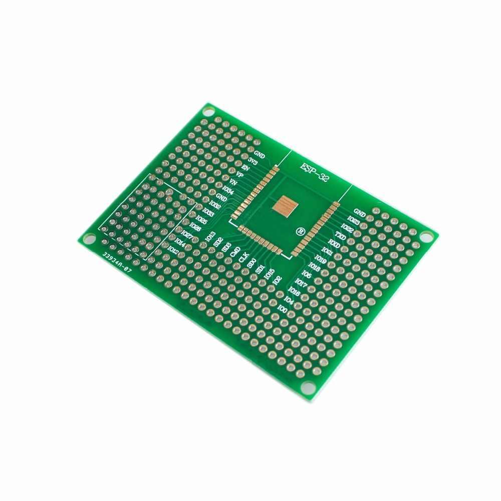 Carte universelle de platine de prototypage de carte PCB de Prototype de Double côté de 5X7CM pour Arduino UNO R3 ESP8266 WIFI ESP-12F ESP-12E ESP32S ESP32