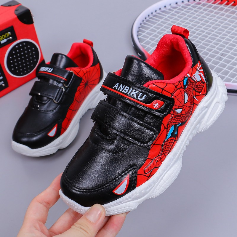 Spiderman Kids Sneakers For Girls Boys Leather Rubber Sport Children Kids Shoes Sneakers Baby Tenis Casual Sneakers