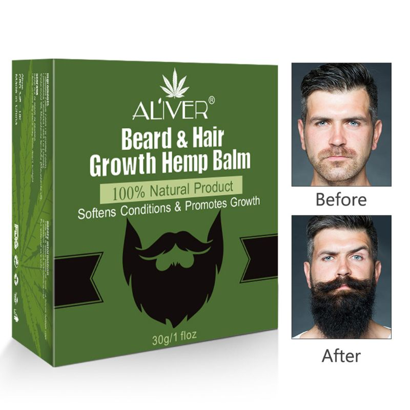 30g Men Organic Beard Hair Growth Plant Oil Balm Moustache Repair Wax Styling Moisturizing Smoothing Nutrition Conditioner