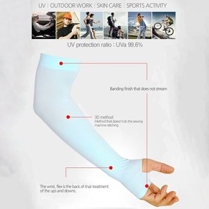 Охлаждающие рукава унисекс, 1 пара, обложки для езды на велосипеде, бега, защита от УФ лучей, мужские нейлоновые крутые рукава для скрытия татуировок|Походные грелки для рук|   | АлиЭкспресс