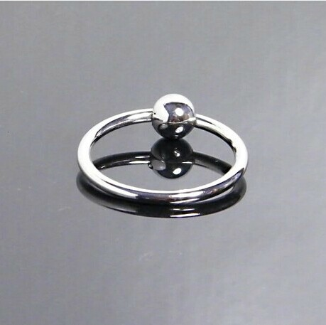One Bead Stainless Steel Penis Ring Metal Semen Lock Delay Foreskin Block Male For Man Outdoor Cock Device Sex Toys SM Products