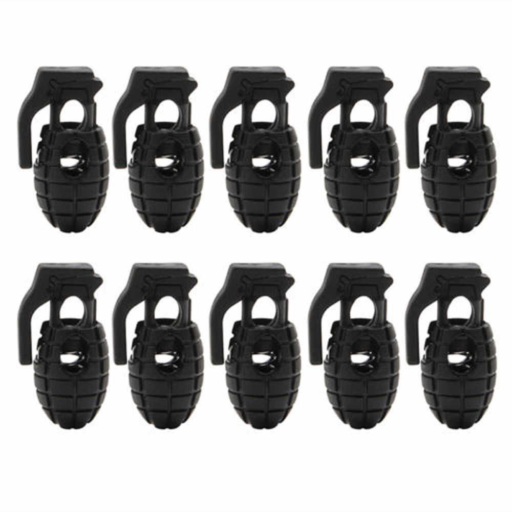 10 шт. Повседневная Экипировка тактические походные ботинки обувь шнурки пряжка зажим безопасности и выживания дропшиппинг Z0814