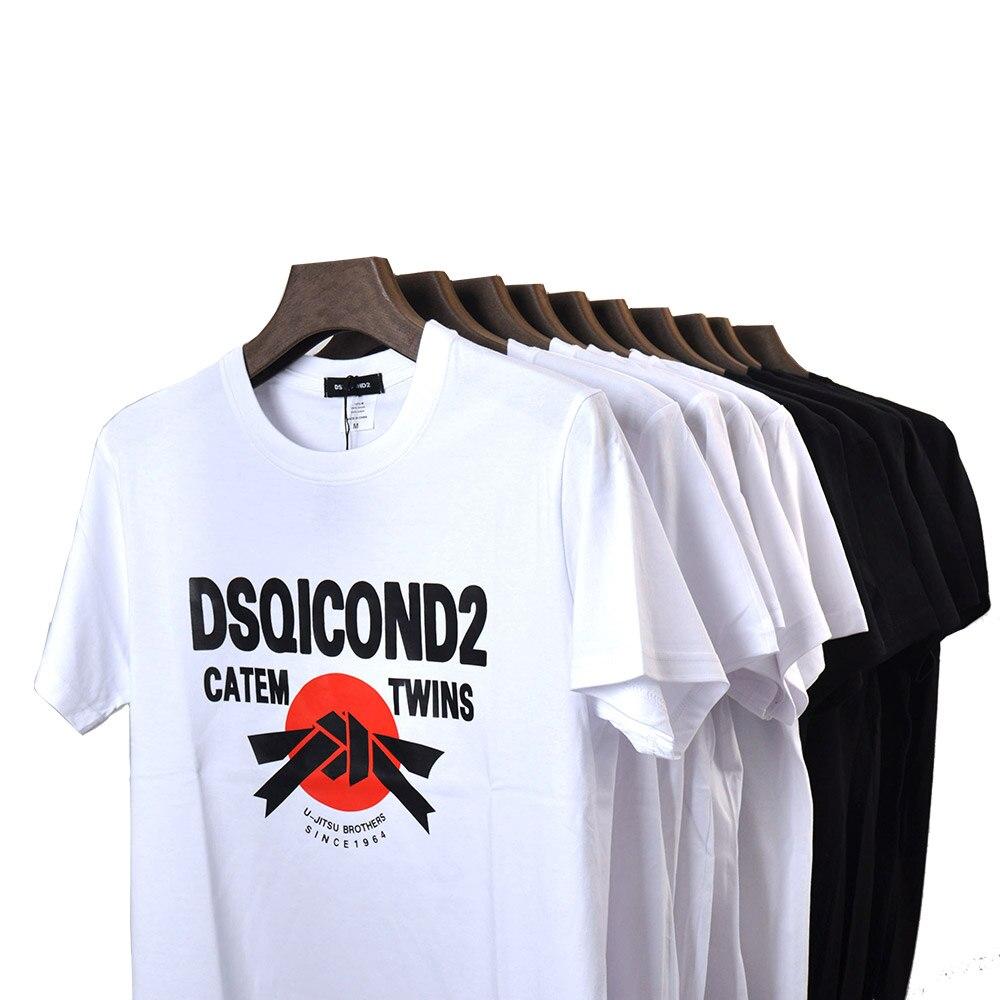 DSQ2 Brand 100% Cotton Tees Short Sleeves T-Shirts ICON  Print T Shirt Women Casual Cool Summer T-shirt Women Short Sleeve Tshir